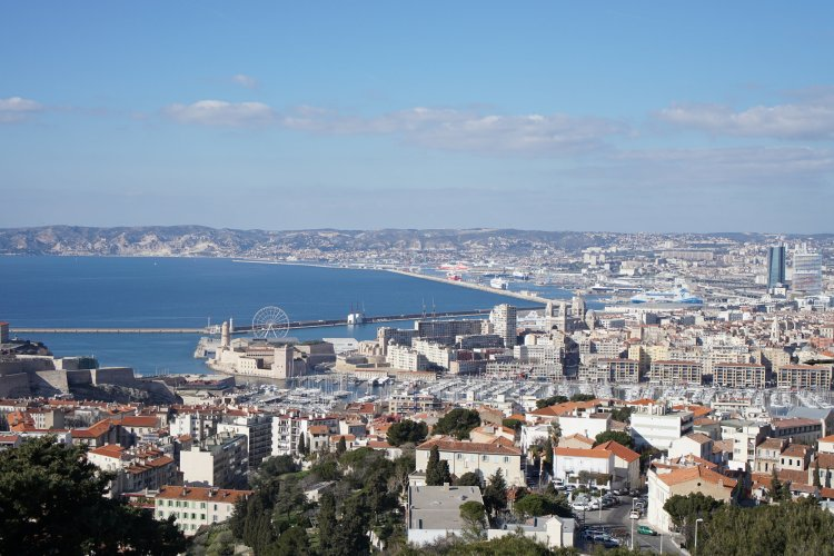 View of Marseille from Cathedral Notre Dame de la Guarde