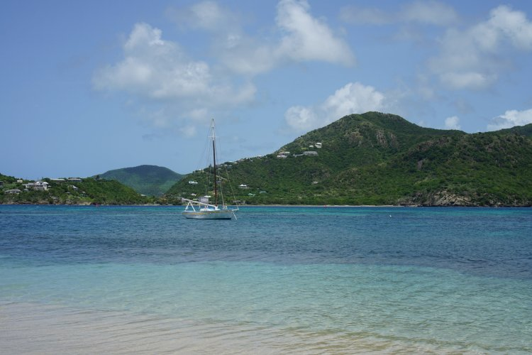 Early morning at Pigeon Point Beach, Antigua, W.I.